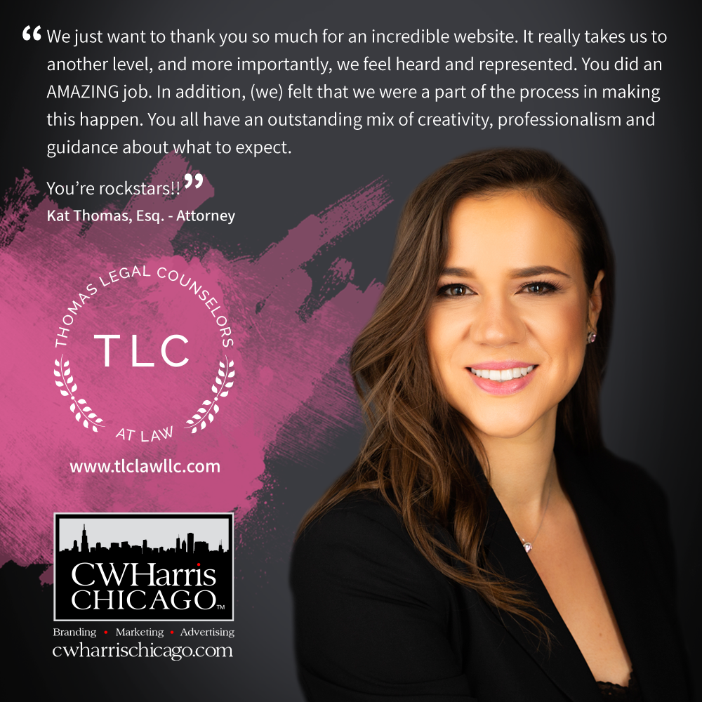 A glowing testimonial from our Law Firm Marketing client, Kat Thomas, Attorney, New York City